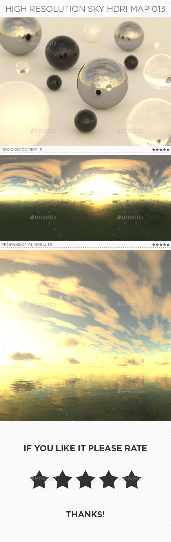 High Resolution Sky HDRi Map 013 - 3DOcean Item for Sale