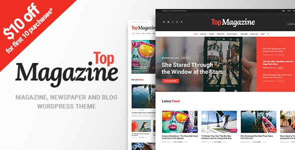 Top rated Magazine – News, Weblog &amp Magazine WordPress Theme (News / Editorial)