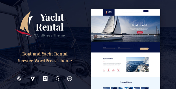 Download Yacht and Boat Rental Service WordPress Theme
