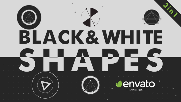 VideoHive Black White Shapes 19296824