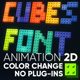 Cubes font