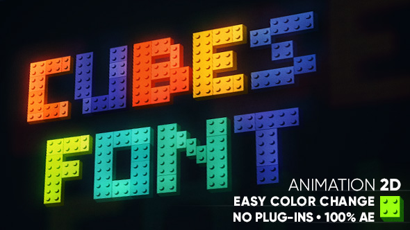 Cubes font - After Effects Template | VideoHive 19296903 - After