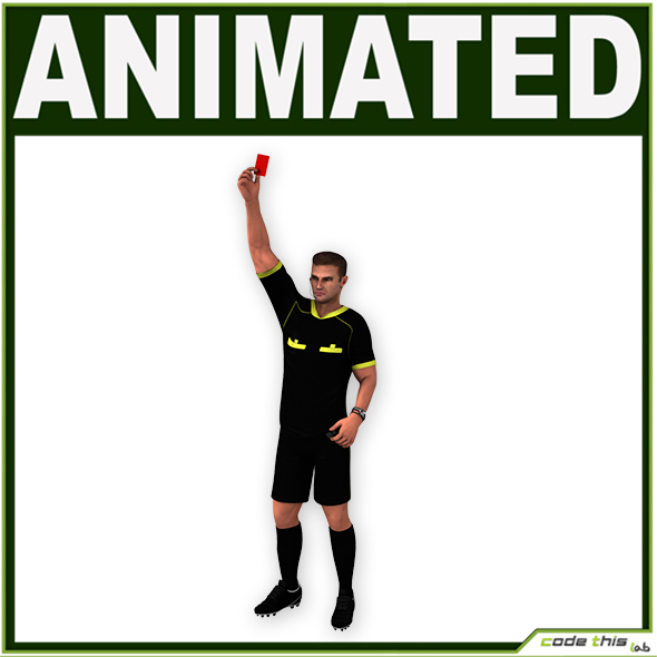 White Soccer Referee CG - 3DOcean Item for Sale