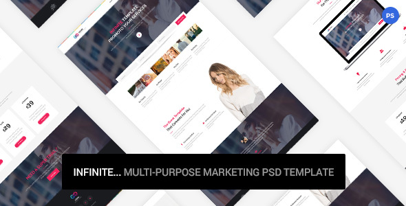 Infinite - Marketing PSD Template