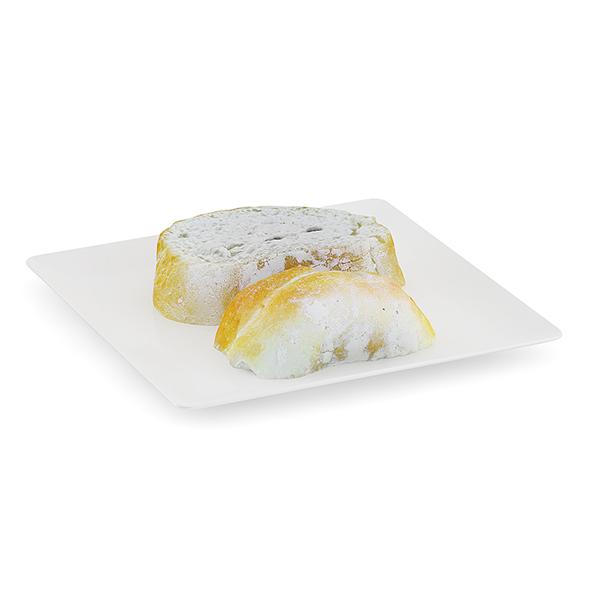 Sliced Bread on White Plate - 3DOcean Item for Sale