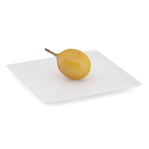 Granadilla on White Plate - 3DOcean Item for Sale
