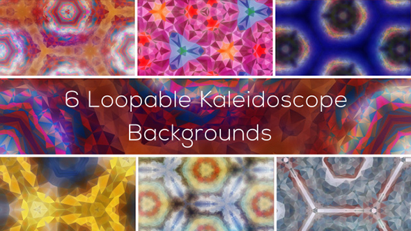VideoHive 6 Loopable Kaleidoscope Backgrounds 19297899