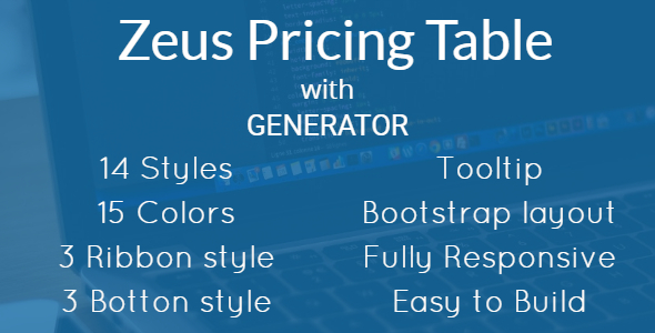 Download Zeus - Bootstrap Pricing Table with Generator
