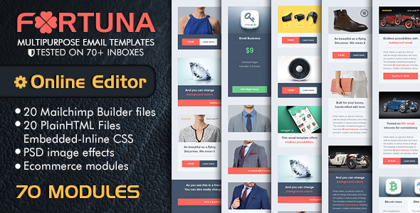 Download Responsive Email Template - FORTUNA Multipurpose Email With Email Template Builder Online Access nulled download
