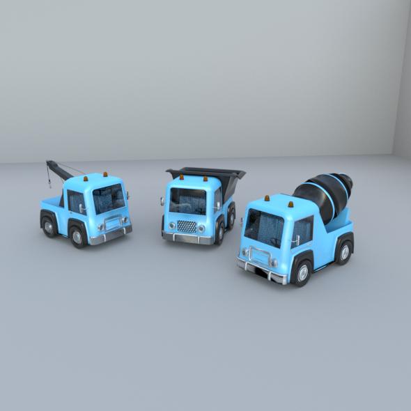 TOY TRUCKS - 3DOcean Item for Sale