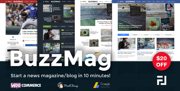 Download BuzzMag - Viral News WordPress Magazine/Blog Theme nulled download