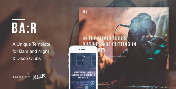 Download BA:R - Unique Bar, Night & Disco Club Template