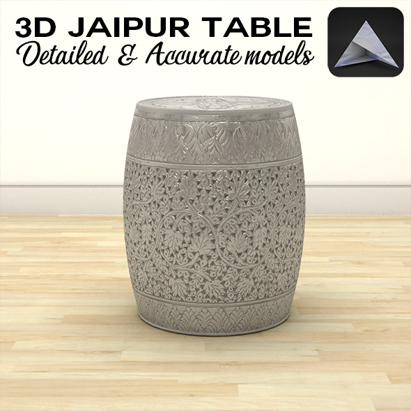Jaipur Side Table - 3DOcean Item for Sale