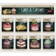 Dessert Cakes, Cupcakes Vector Price Cards
