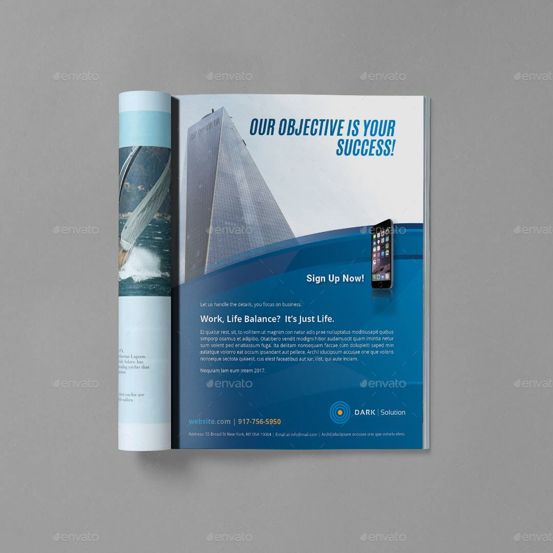 magazine advertisement template by sanlife graphicriver magazine advertisement template magazines print templates 1 jpg