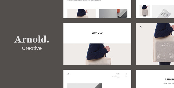 Arnold. -  Minimal Portfolio WordPress Theme