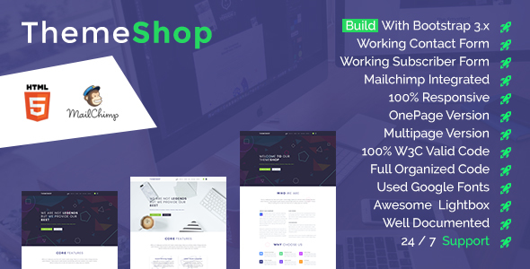 ThemeShop - One Page & Multi Page HTML5 Template