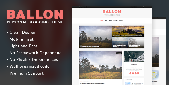 Balloon - Personal Blog WordPress Theme