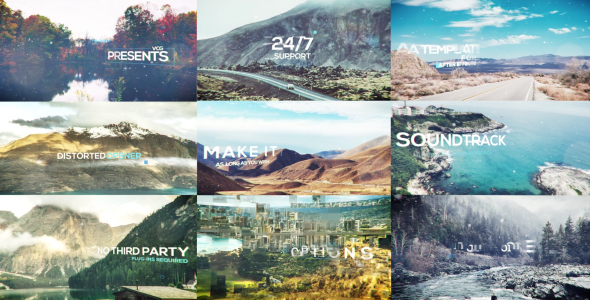 VideoHive Distorted Opener With Titles 19299428