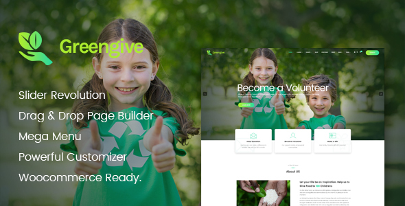 Greengive | Fundraising & Charity WordPress Theme
