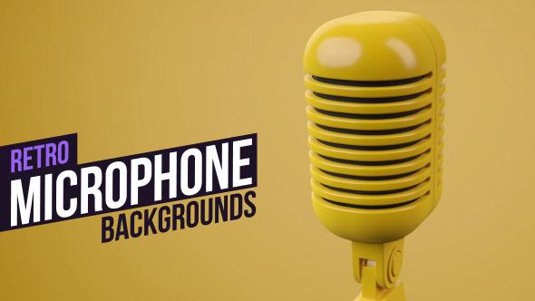 VideoHive Colored Retro Microphones 19299535