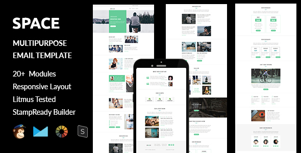 Download Space - Multipurpose Responsive Email Template + Stampready Builder nulled download