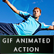 Gif animated Bubble blowing Photoshop action