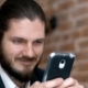 Handsome Bearded Businessman Talking on the Phone