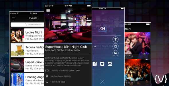 iOS Night Club/Bar/Discotheque App - CodeCanyon Item for Sale
