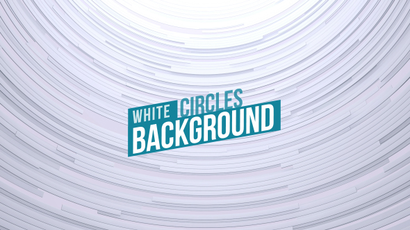 VideoHive Clean White Circles Background 19299849