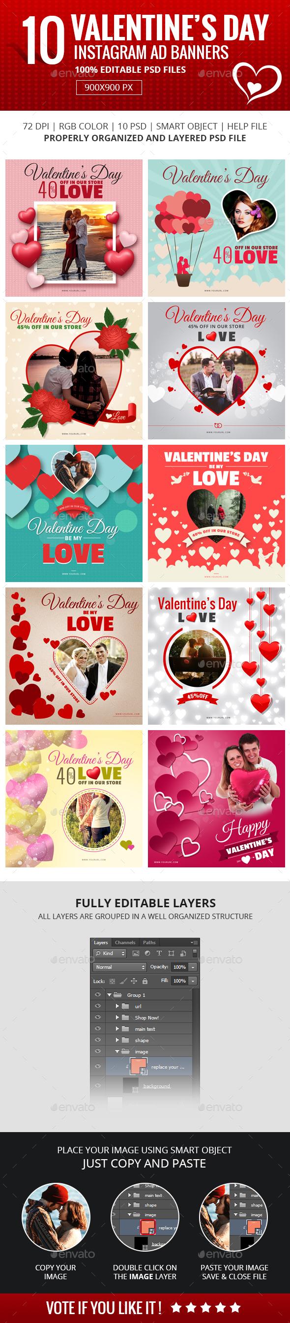 Valentine Instagram Banners