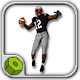 Black American Football Player Patriots CG
