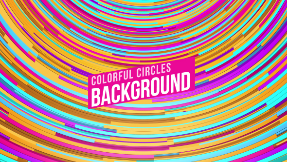 VideoHive Colorful Circles Loop 19300214
