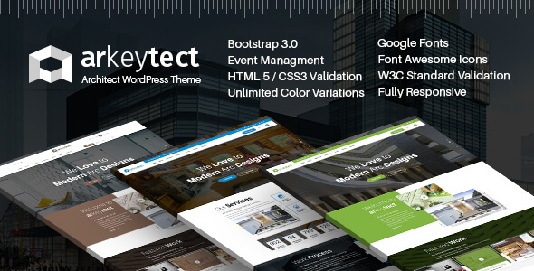 Download Architecture WordPress Theme - Arkeytect