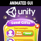 Unity Animated Dialogs Orange Casual GUI
