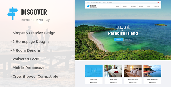 DISCOVER Location - Beach, Holidays, Hotel & Resort Responsive Theme