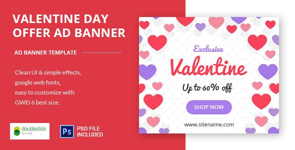 Download Valentine Day Offer - HTML5 Animated Banner 01 nulled download