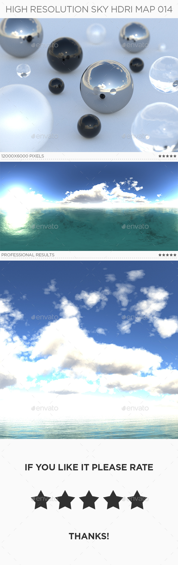 High Resolution Sky HDRi Map 014 - 3DOcean Item for Sale
