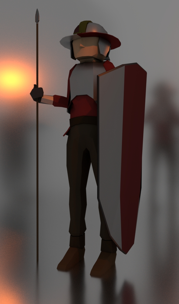 Man at Arms - Low Poly - 3DOcean Item for Sale