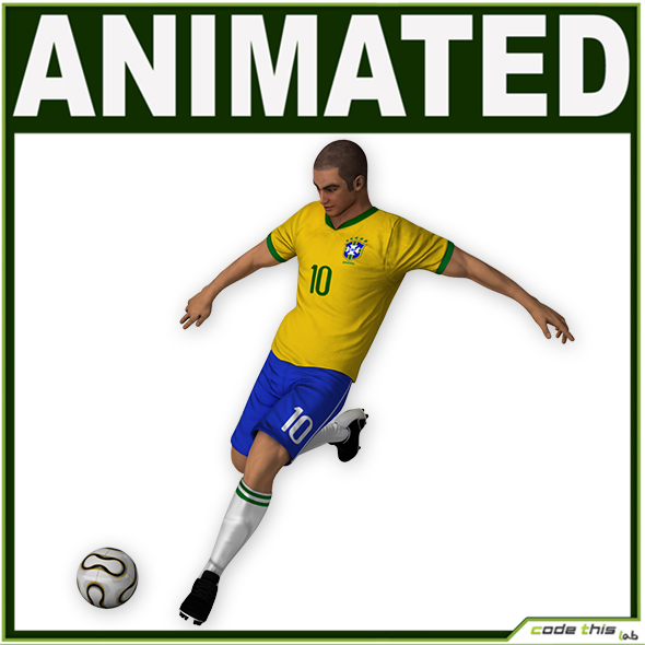 3DOcean Soccer Player Brazil CG 19301918