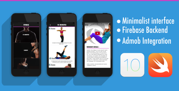 Download Fitness App - iOS 10 - Swift 3 - Firebase - AdMob nulled download