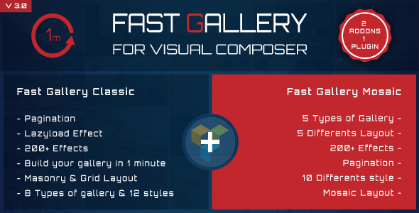 Fast Gallery for Visual Composer Wordpress Plugin - CodeCanyon Item for Sale