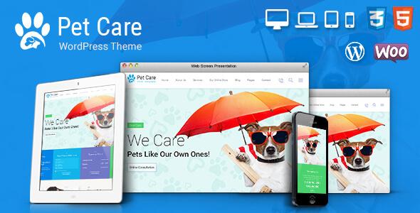 Pet Care, Pet Shop, Vet WordPress Theme (Retail) Download