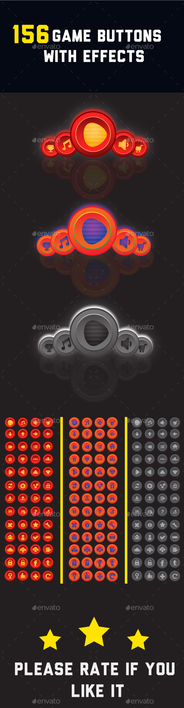 Graphicriver 156 Game Buttons For Your Game 19297781