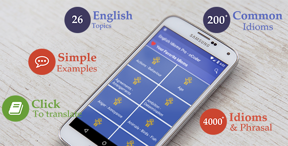 Download English Idioms - Android education app nulled download