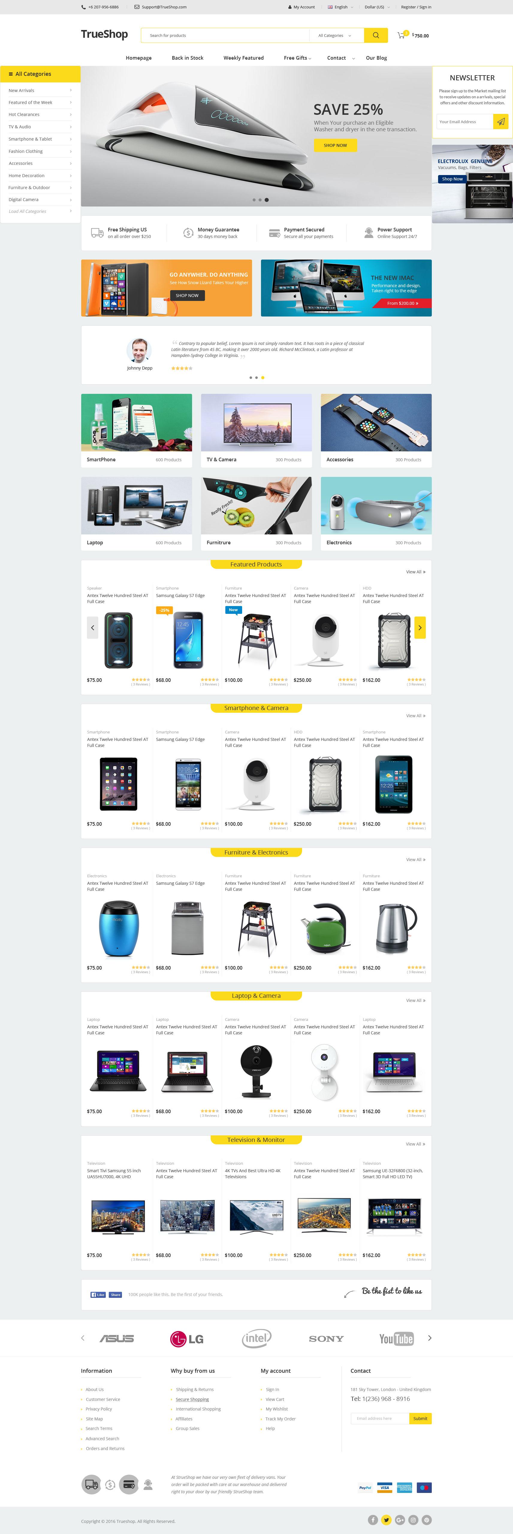 Google chrome themes johnny depp - Trueshop Multipurpose Wordpress Theme