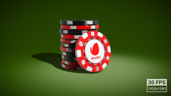 VideoHive Casino Chips Logo Reveal 19303931