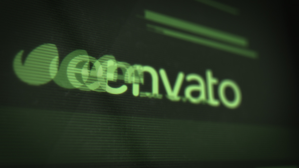 VideoHive Old LED Display Logo Reveal with Glitch Effect 19303945