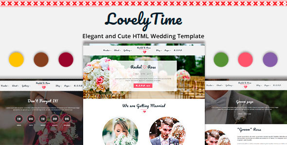 Download LovelyTime - Clean and Responsive HTML Wedding Template