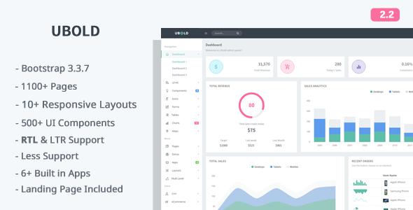 Ubold - Responsive Web App Kit